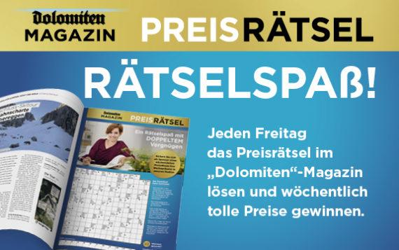 """Dolomiten""-Magazin Preisrätsel"