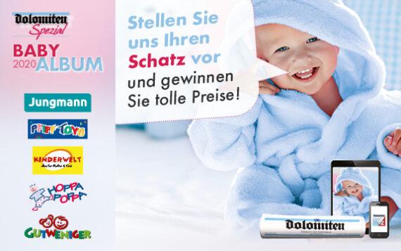 """""""Dolomiten"""" Babyalbum 2021: Foto einschicken und gewinnen!"""