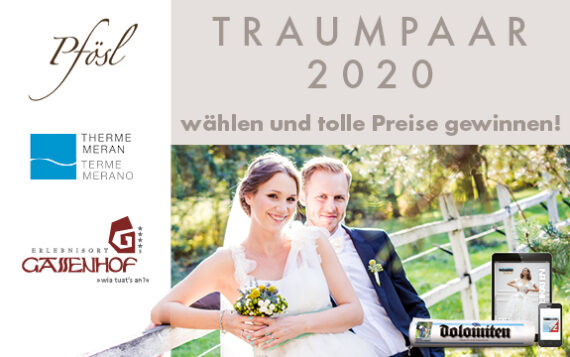 """""""Dolomiten"""" Traumpaare 2020: Hochzeitsfoto wählen und gewinnen!"""